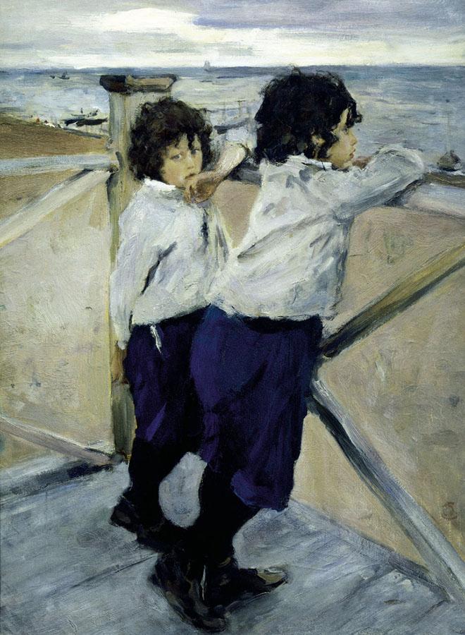 Картина «Дети», художник:Валентин АлександровичСеров