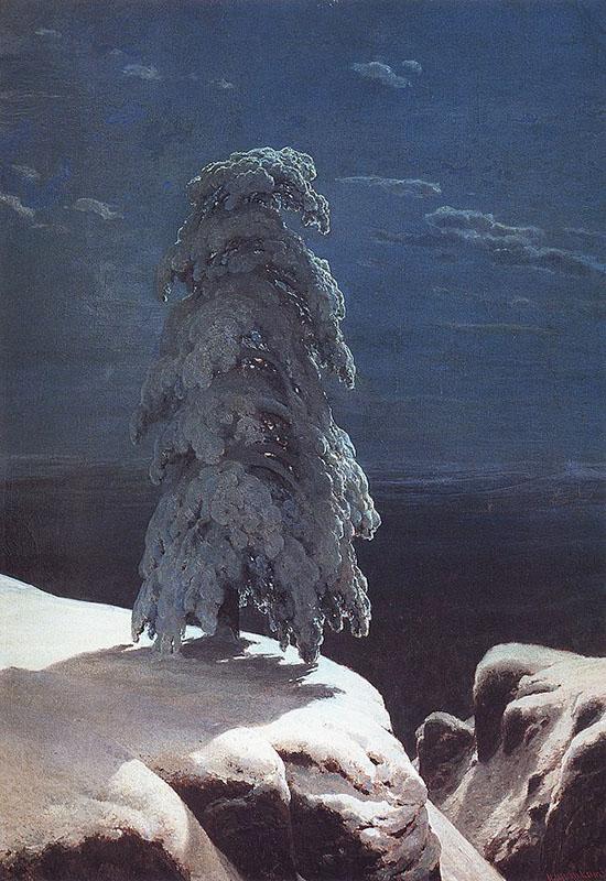 Картина «На севере диком», художник: Иван Иванович Шишкин