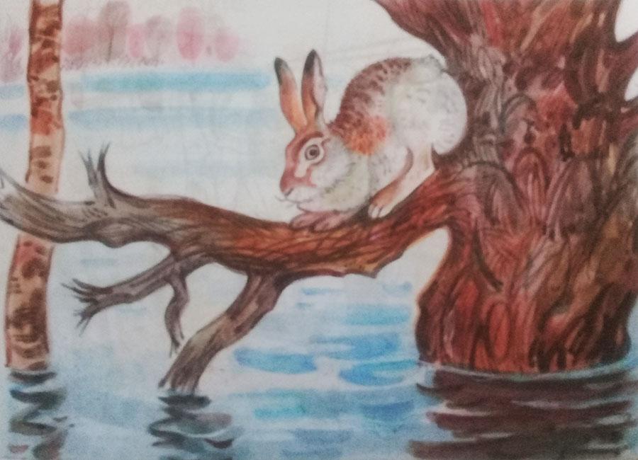 Картина «Наводнение», художник: Алексей Никанорович Комаров