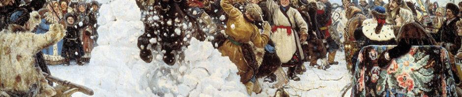 Картина «Взятие снежного городка» (художник: Василий Иванович Суриков)
