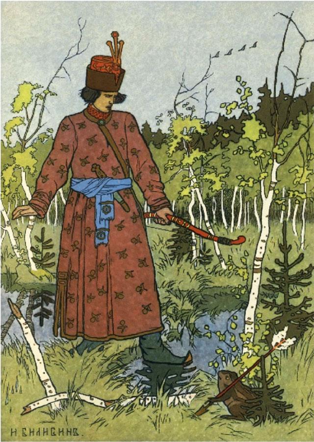 Картина «Иван-царевич и лягушка-квакушка», художник: Иван Яковлевич Билибин