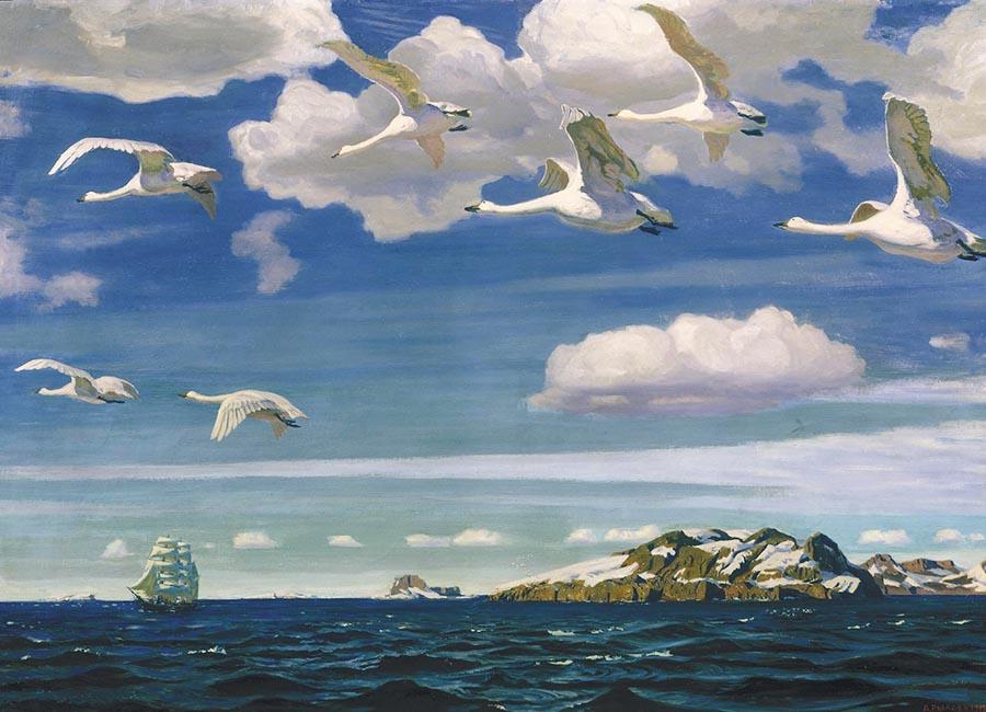 Картина «В голубом просторе», художник: Аркадий Александрович Рылов