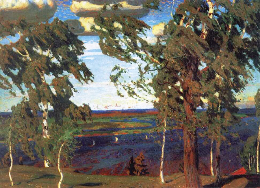 Картина «Зеленый Шум», художник: Аркадий Александрович Рылов